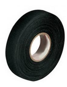 Ruban isolant autocollant en tresse coton noire pour refaire les faisceaux électriques 50 m  largeur 15 mm