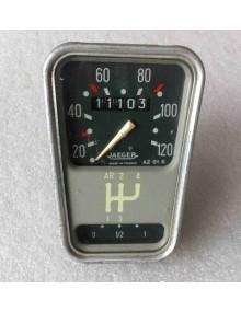 Compteur 2cv  Jaeger occasion gradué de 20 à 120 km/h