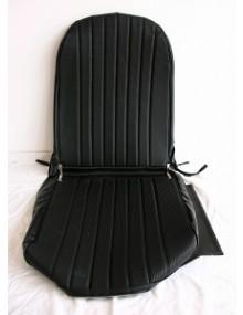 Garniture de siège gauche, targa noir, dossier symétrique 2cv / Dyane / Acadiane