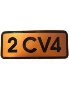 Autocollant 2CV 4 doré livraison offerte en France continentale