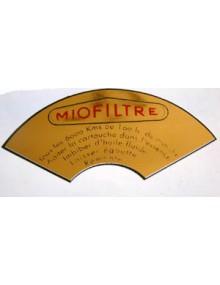 Autocollant en demi cercle pour filtre Miofiltre  Livraison offerte en France continentale