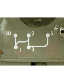 Autocollant grille vitesse 2CV premier modèle  Livraison offerte en France continentale
