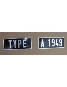 Plaques d'immatriculation arrière 2 parties fourgonnettes et 2cv avant 1964 255 x 105*