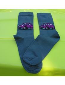 Paire de chaussettes femme 38/41 2cv Prune