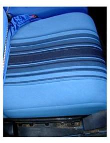 Tissu rayé bleu