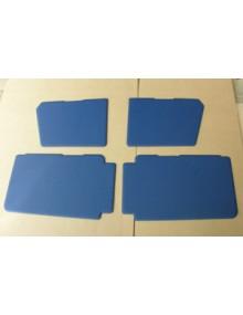Ensemble de 4 panneaux de porte bleus 2cv Club