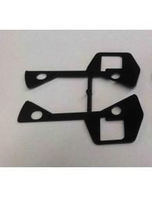 Paire de  joints de poignée de porte Dyane Acadiane en plastique noir