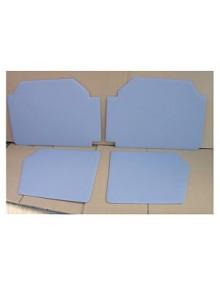 Ensemble de 4 panneaux de porte gris-bleu, 2 CV Spécial et Cocorico