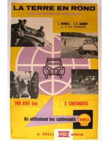 Affiche 2cv La terre en rond Séguéla Baudot
