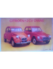 Affiche 2cv orange Ténéré Dyane rouge de Rio