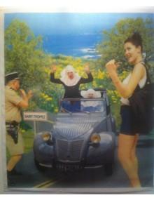 Affiche 2cv Saint Tropez