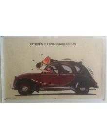 Affiche 2cv Charleston rouge série limitée