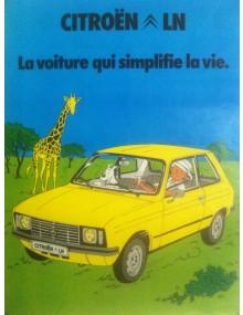 Affiche Tintin LN simplifiez vous la vie