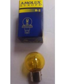Ampoule de phare jaune 6 volts à baïonnette 35/35W