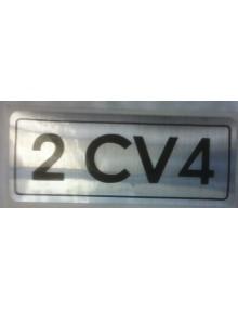Autocollant 2cv4 noir sur fond argent livraison offerte en France continentale