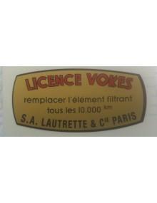 Autocollant pour filtre à air Licence Vokes Lautrette Livraison offerte en France continentale