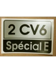 Autocollant 2CV 6 SPECIAL E livraison offerte en France continentale