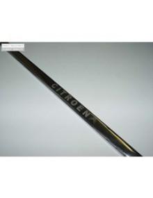 Baguette de porte de coffre 2cv en métal brillant  avec logo gravé* + logo autocollant fourni