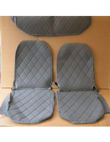 Ensemble de housses 2CV Charleston, sièges dossier symétrique gris foncé