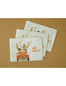 Carte métal 2CV (lot de 3)