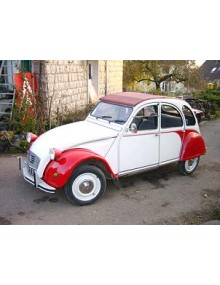 2 CV Dolly rouge et blanche de 1986
