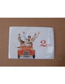 Carte métal 2CV 15x21