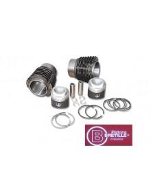 Jeu de cylindres + pistons compression 9, 2 CV 6, Dyane, Ami 8 Bretille