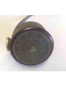 Compteur rond 2cv occasion jaeger gradué de 20 à 90 km/h verre rayé vendu sans éclaireur
