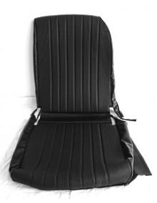 Garniture de siège gauche targa noir, dossier asymétrique