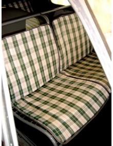 Motifs à carreaux écossais vert et blanc