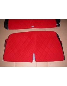 Housse de banquettes tissus rouge 2cv depuis 1970 sur commande