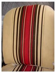 Tissu rayés rouge