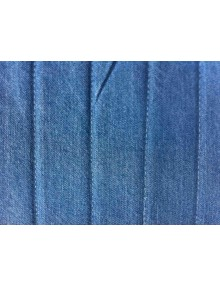 Ensemble de garnitures de sièges + banquette dossier symétrique en tissu Jean bleu denim pour 2cv Dyane attention banquette arrière sans rabats