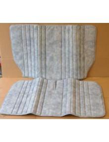 Garniture de banquette arrière 2cv skai bleu denim montage d'origine sur 2cv Spécial et 2cv Corico