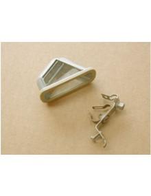 Eclaireur de plaque triangulaire origine Axo ou Seima avec support pour 2cv et HY