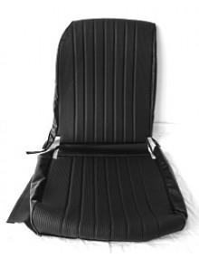 Garniture de siège droit  targa noir, dossier asymétrique