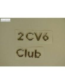 Emblème 2cv6 Club à coller