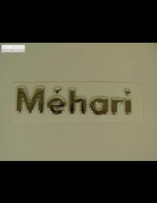 Emblème argenté  Méhari à coller