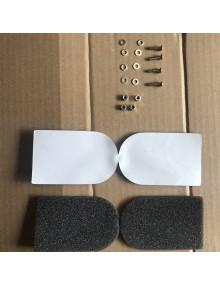 Ensemble de 4 mousses d'étanchéité de clapets d'air pour échangeurs de chauffage avec vis de fermeture*