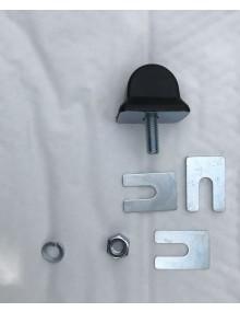 Ensemble de 1  butée de débattement rectangulaire avec cales rondelle et écrou