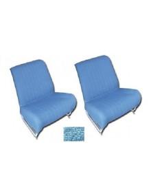Ensemble de garnitures de sièges séparés et banquette arrière* diamanté bleu pour 2cv AZAM