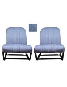 Ensemble de garnitures de sièges dossier symétrique en skai jean sur commande