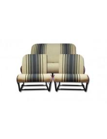 Ensemble de garnitures de sièges rayés marron dossier asymétrique