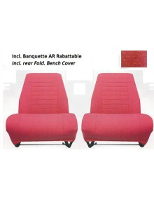 Ensemble de sièges avant + banquette arrière rabattable Ami 8 Diamanté rouge SUR COMMANDE