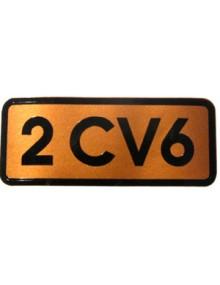 Autocollant 2CV 6 doré livraison offerte en France continentale