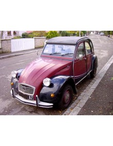 2 CV Charleston rouge Delage
