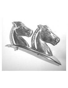 Motif  deux têtes de cheval alignées