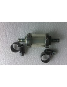 Petit filtre à essence acier pour durite 6 mm vendu avec les 2 colliers