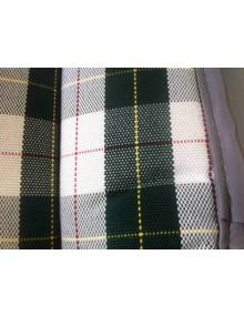 """Garniture de siège en tissu écossais vert """" Prince de Galles """" *ourlet gris ou noir selon arrivage"""