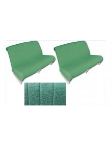 Ensemble de garnitures de banquette  avant + arrière* diamanté vert 2cv AZAM